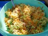 cous cous carote, zucchine e borlotti